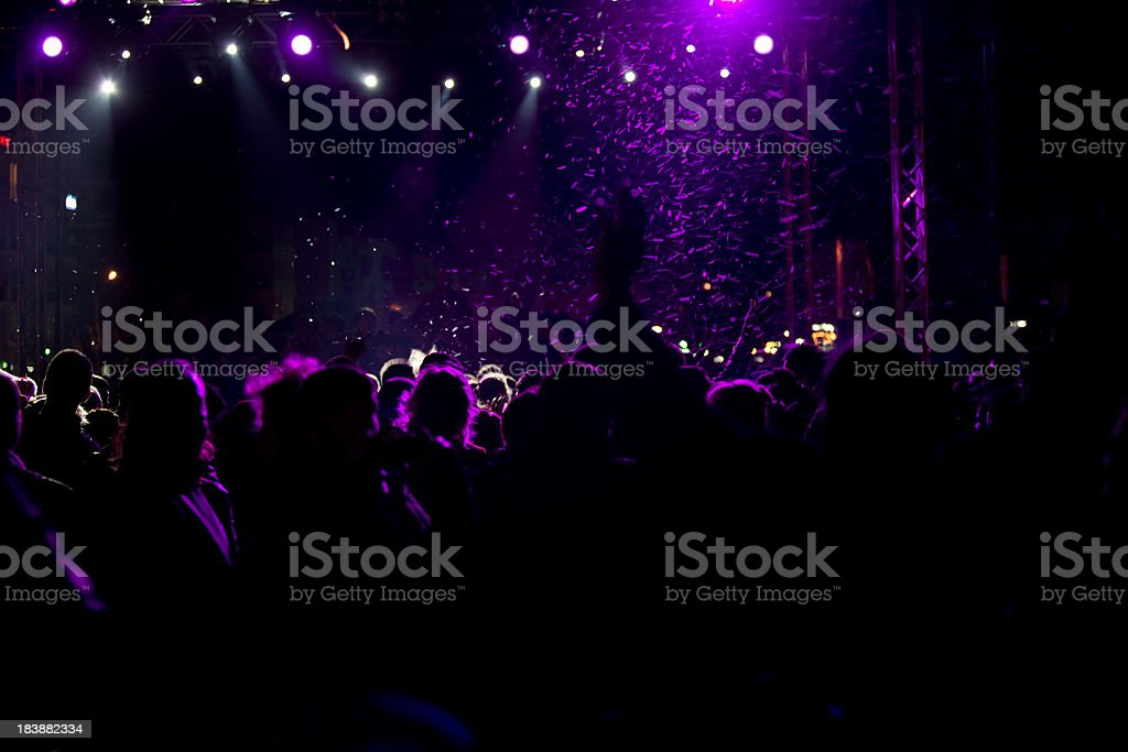 Brightly lit concert view royalty-free stock photo