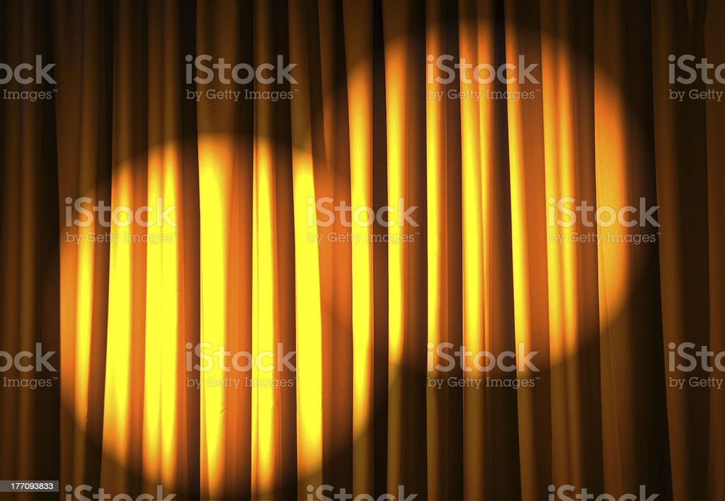 Brightly lit curtains in theatre concept royalty-free stock photo