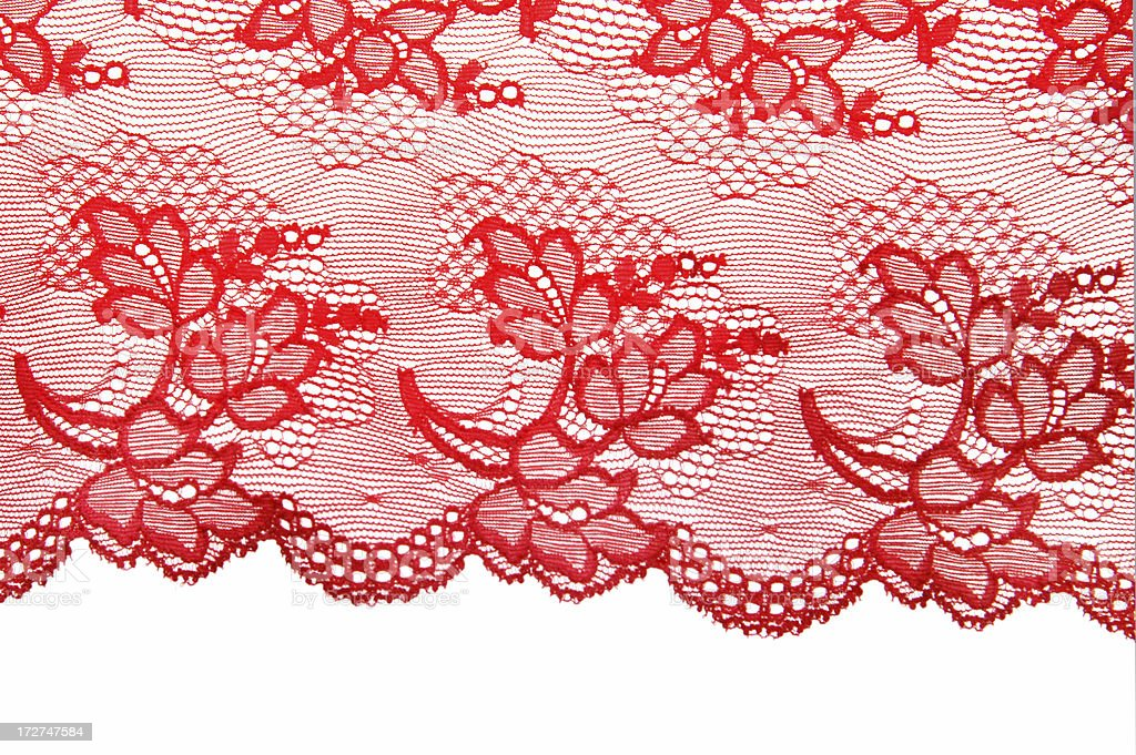 Brightly lit red lace royalty-free stock photo