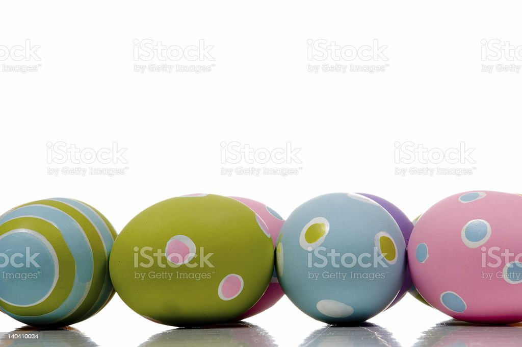 Brightly painted Easter Egg Decorations stock photo