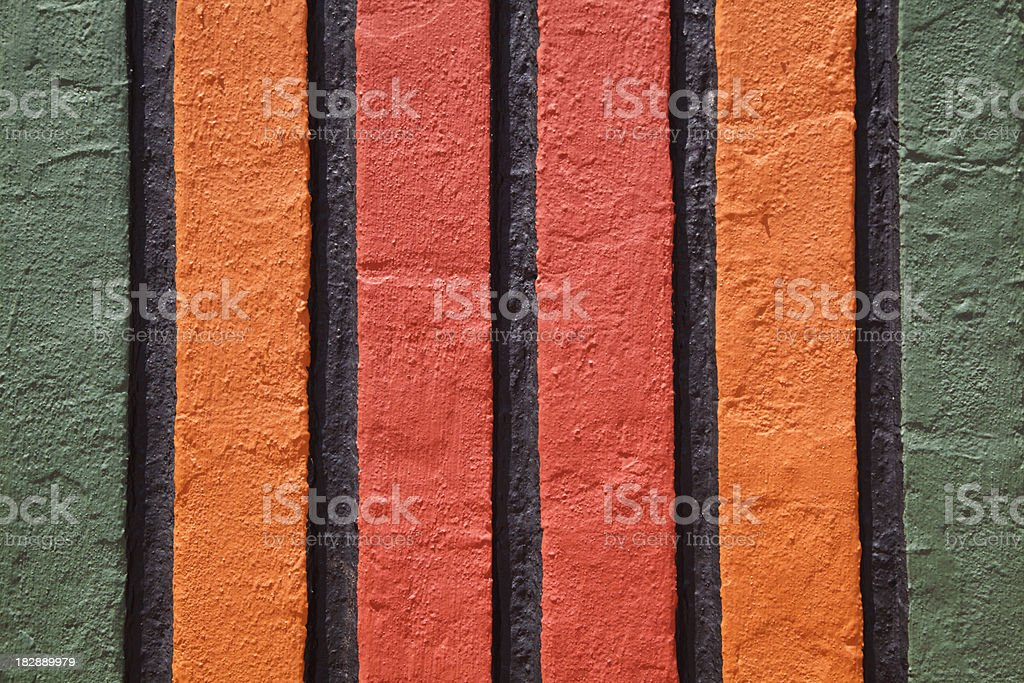 Brightly Painted Stucco Wall, Close Up, Background royalty-free stock photo