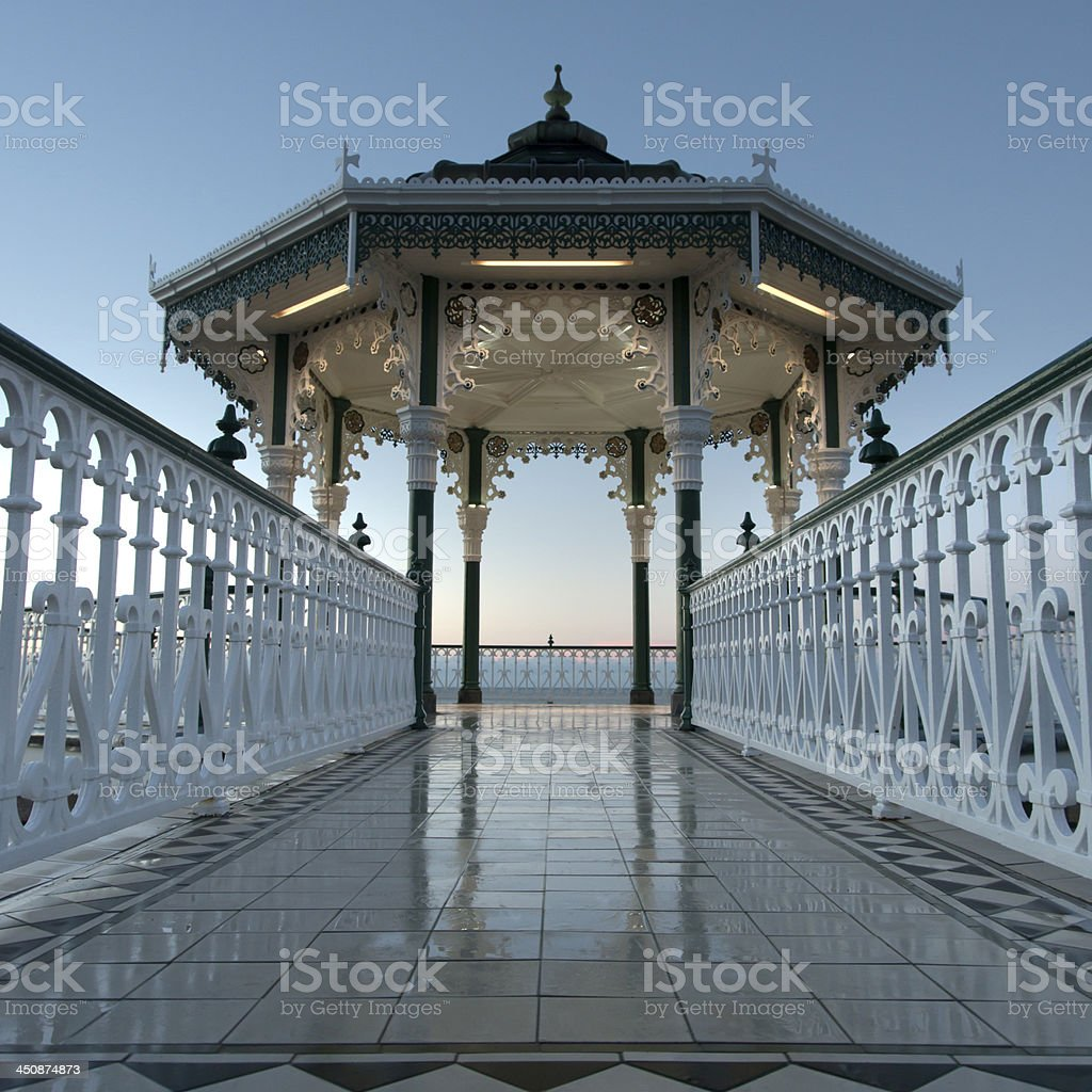 Brighton Bandstand at sunrise stock photo