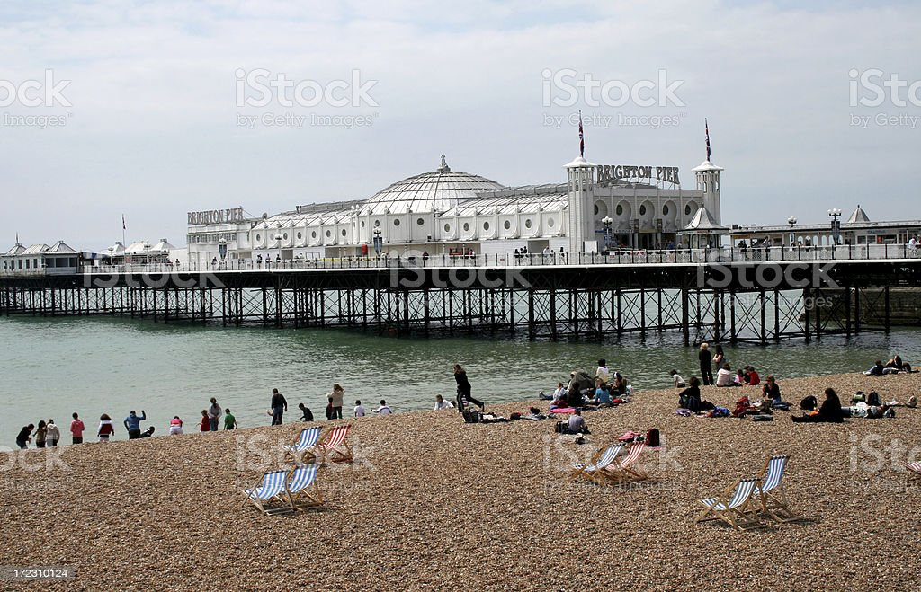 Brighton beach and pier stock photo