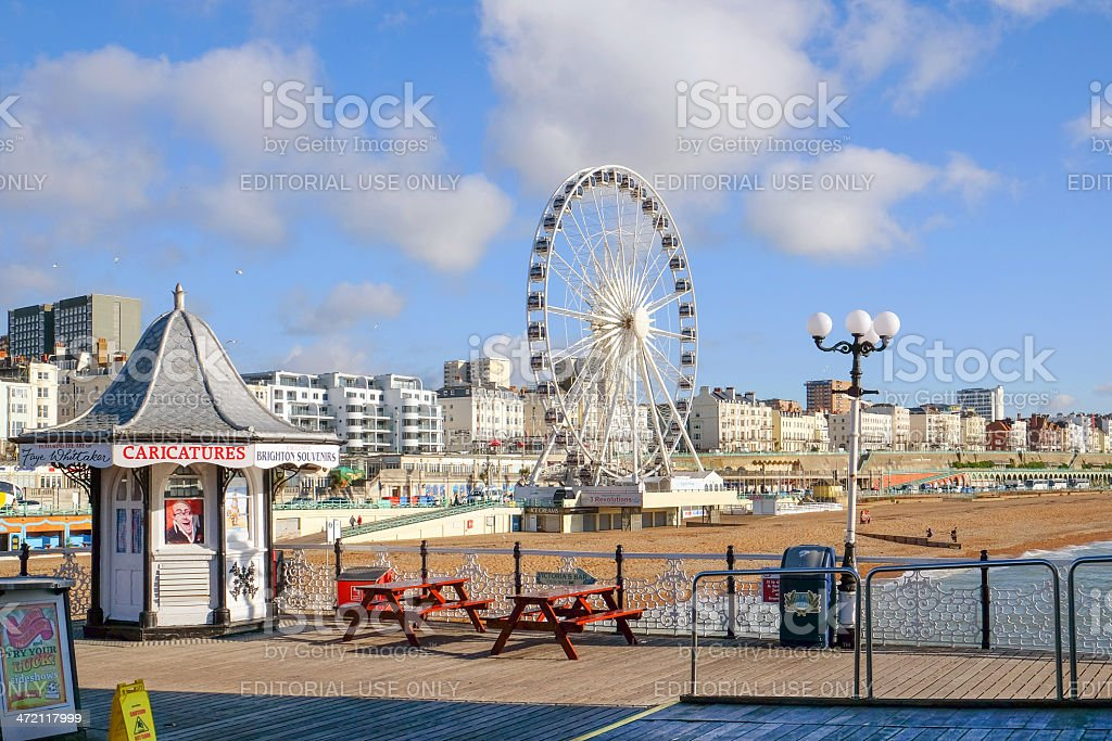 Brighton beach and waterfront, Sussex, UK stock photo