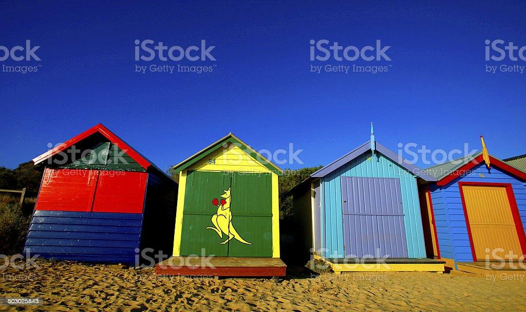 Brighton Beach Boxes, Victoria royalty-free stock photo
