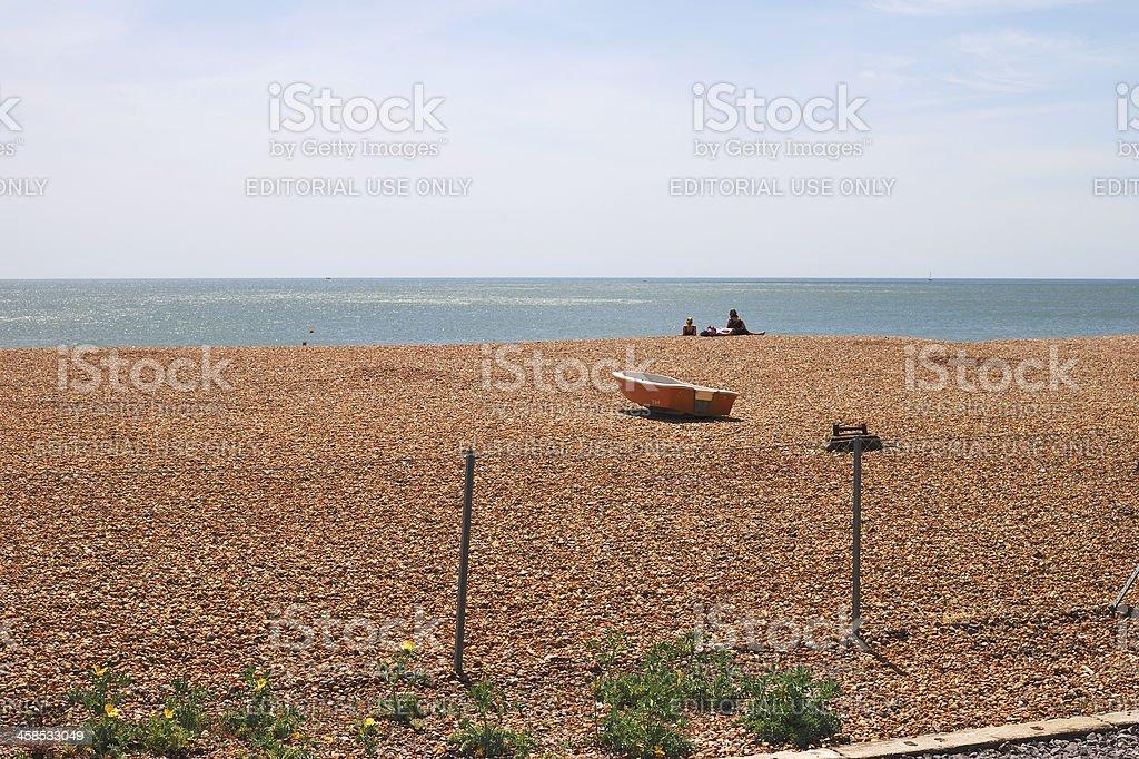 Brighton beach. East Sussex. England royalty-free stock photo