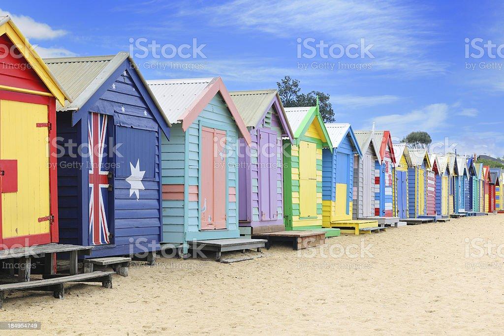 Brighton Beach Huts, Australia (XXXL) royalty-free stock photo