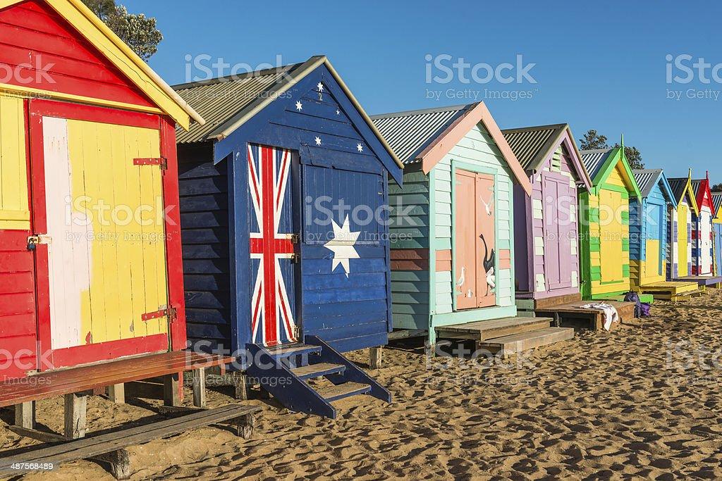 Brighton Beach Huts stock photo
