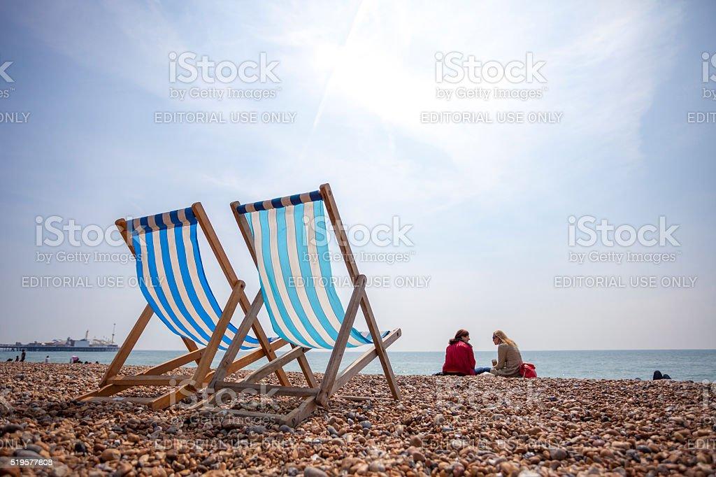 Brighton Beach in United Kingdom stock photo