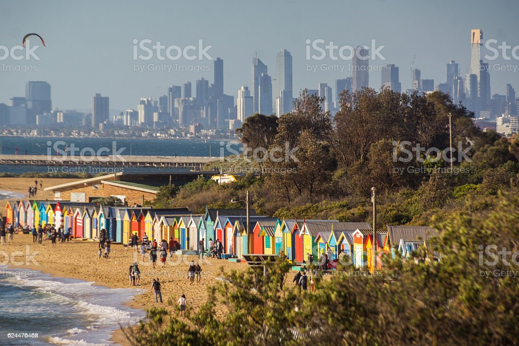 Brighton Beach, Melbourne stock photo