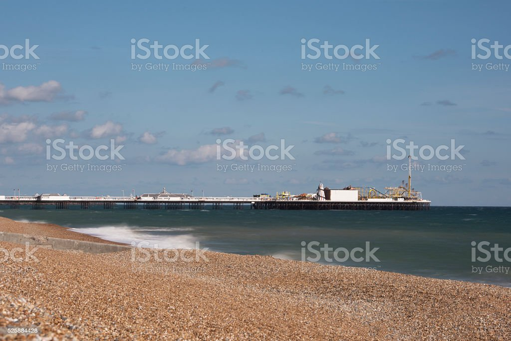 Brighton Beach. stock photo