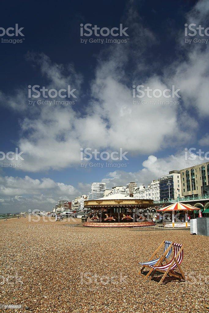 brighton beach seaside summer sky uk royalty-free stock photo