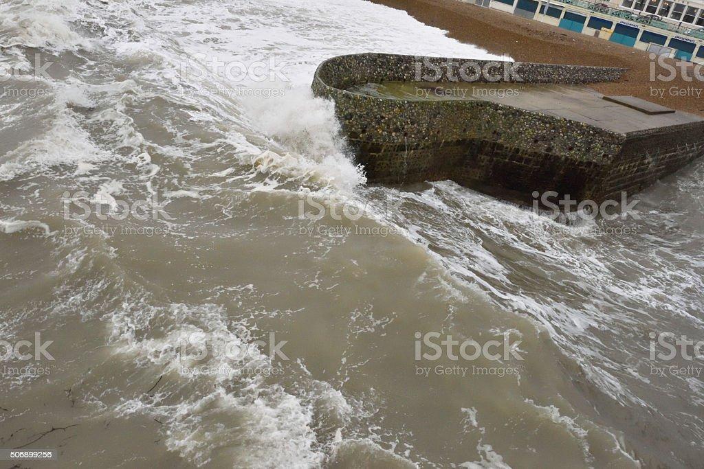 Brighton Beach Sussex UK stock photo