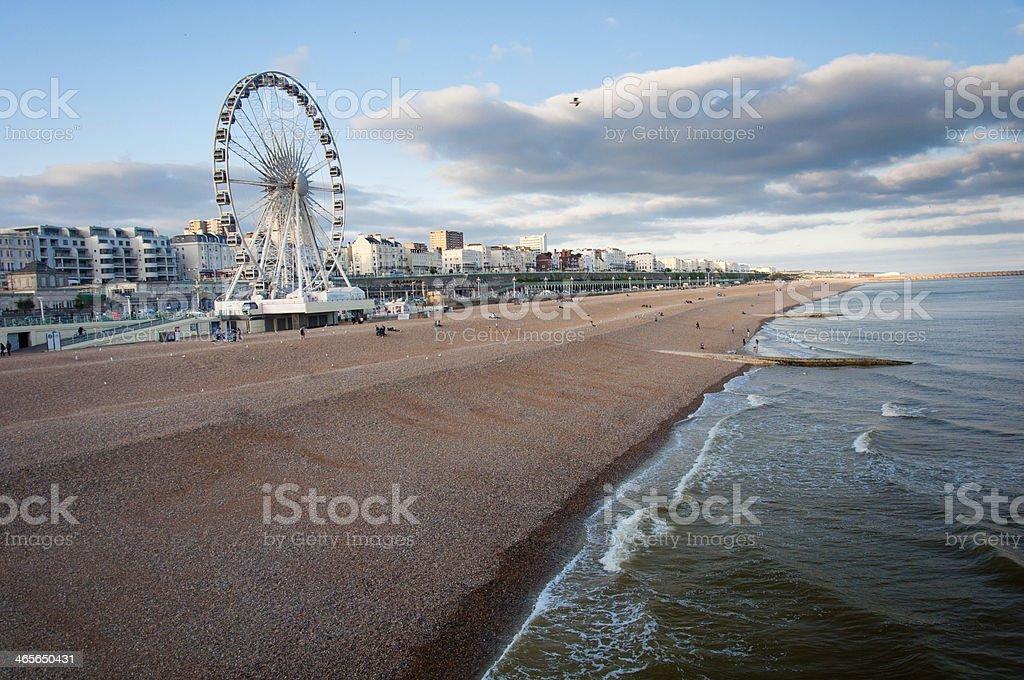 Brighton ferrys wheel and the beach royalty-free stock photo