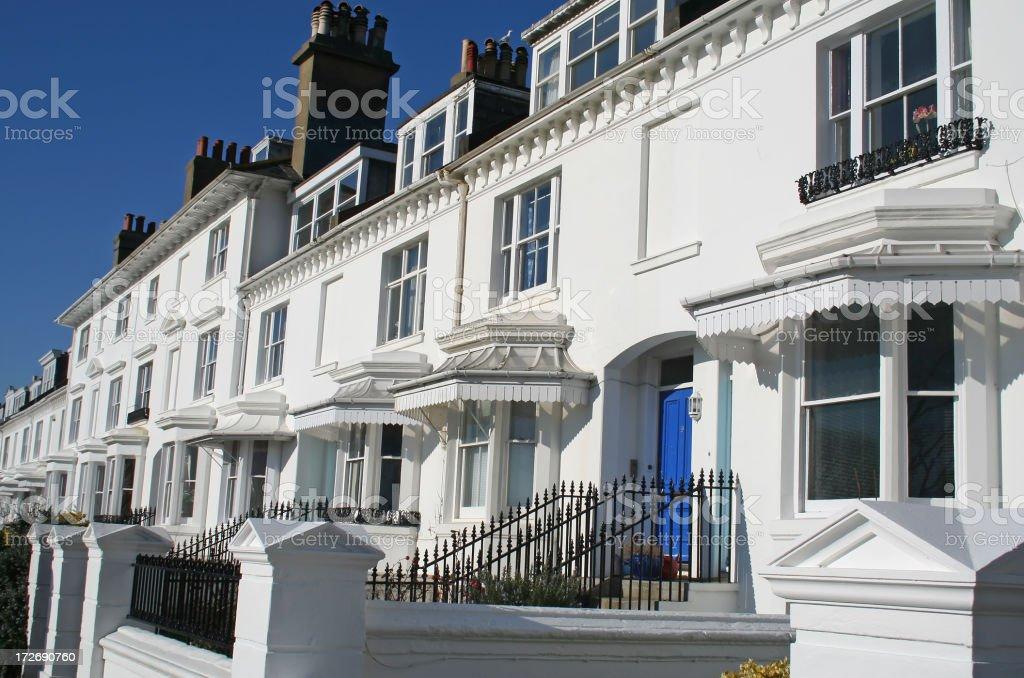 Brighton houses stock photo