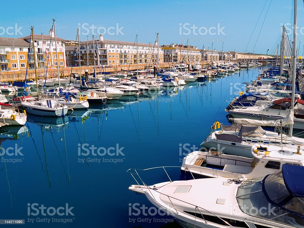 Brighton Marina, UK stock photo