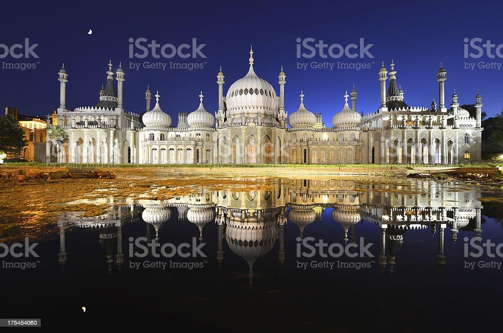 Brighton Pavilion moonlight stock photo