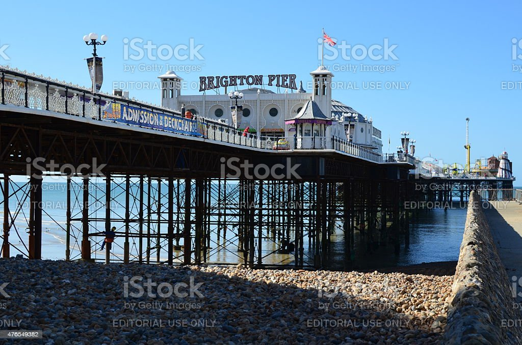 Brighton pier being repaired. stock photo