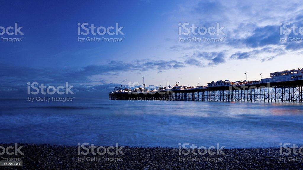 Brighton Pier by night royalty-free stock photo