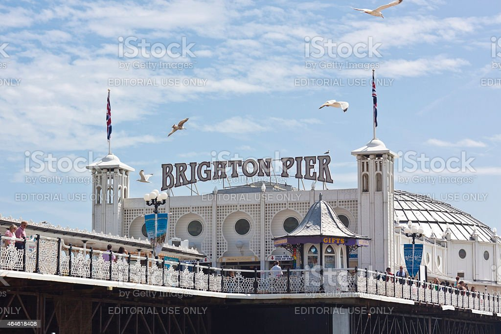 Brighton Pier - England stock photo