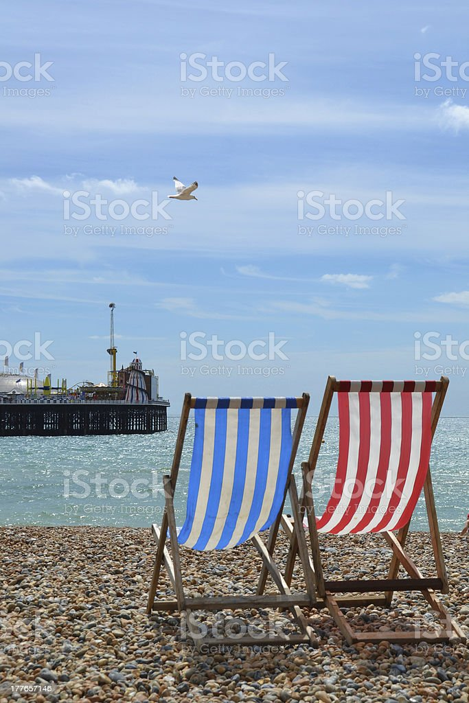 Brighton Pier from the Beach stock photo