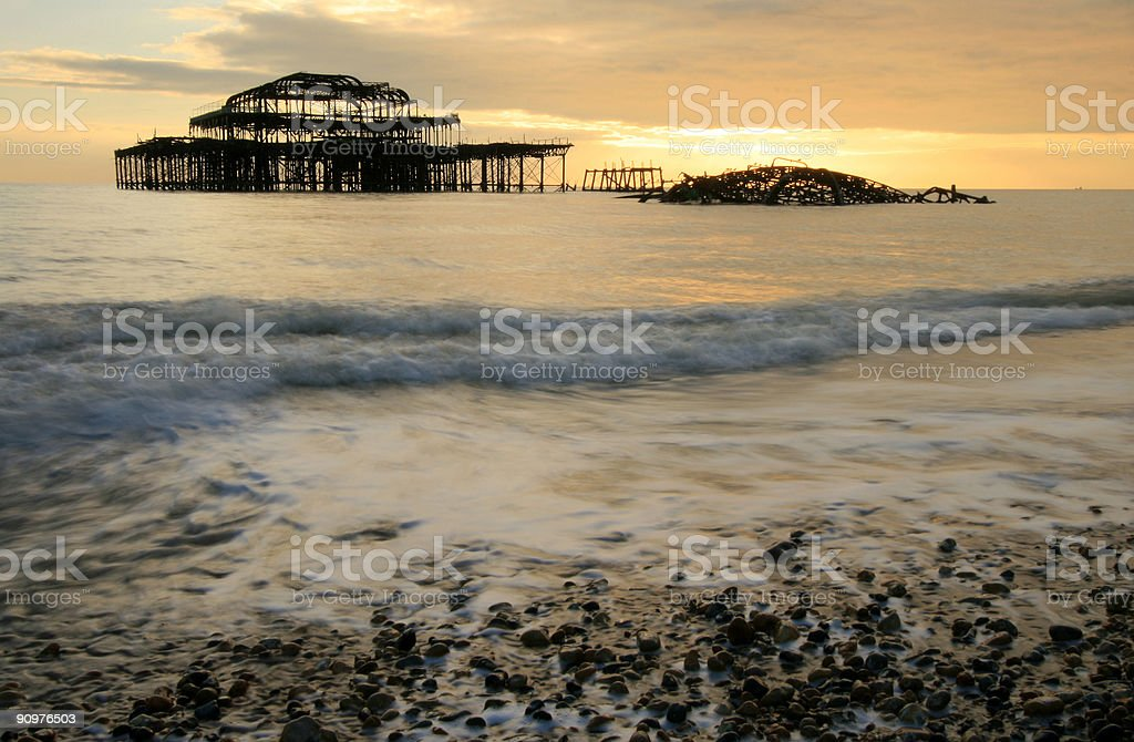 Brighton Pier in West Sussex, England royalty-free stock photo