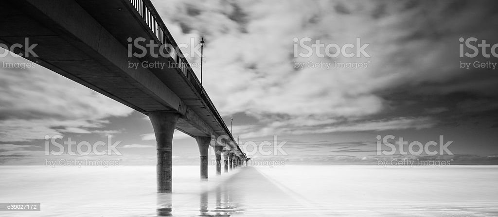 Brighton Pier Of Christchurch, New Zealand stock photo