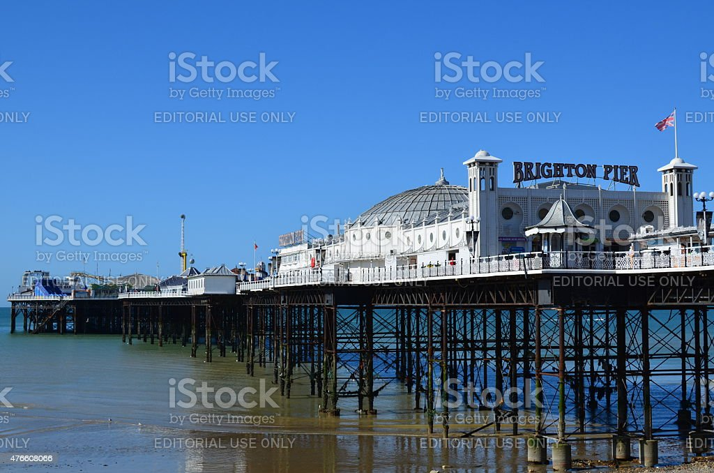Brighton pier. stock photo