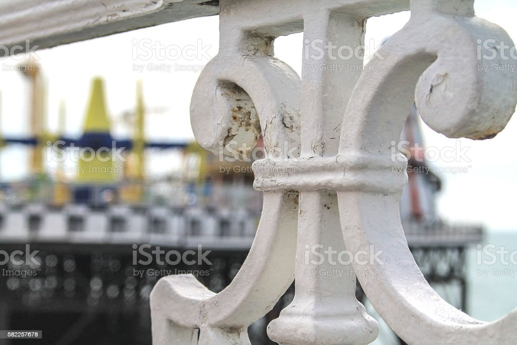 Brighton Pier Railings stock photo