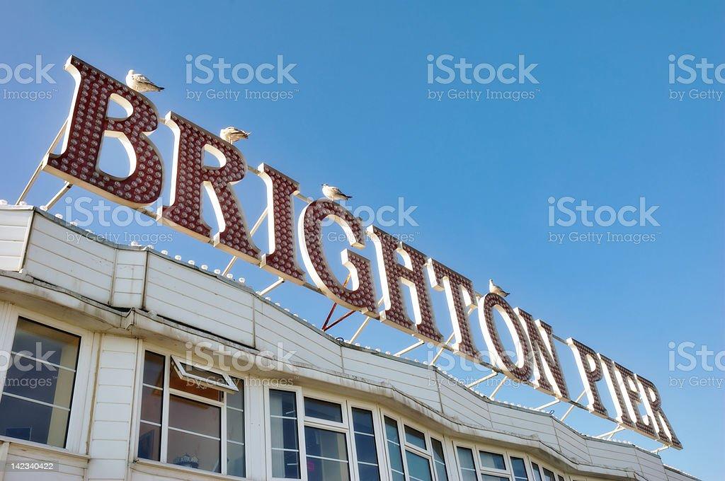 Brighton Pier Sign royalty-free stock photo