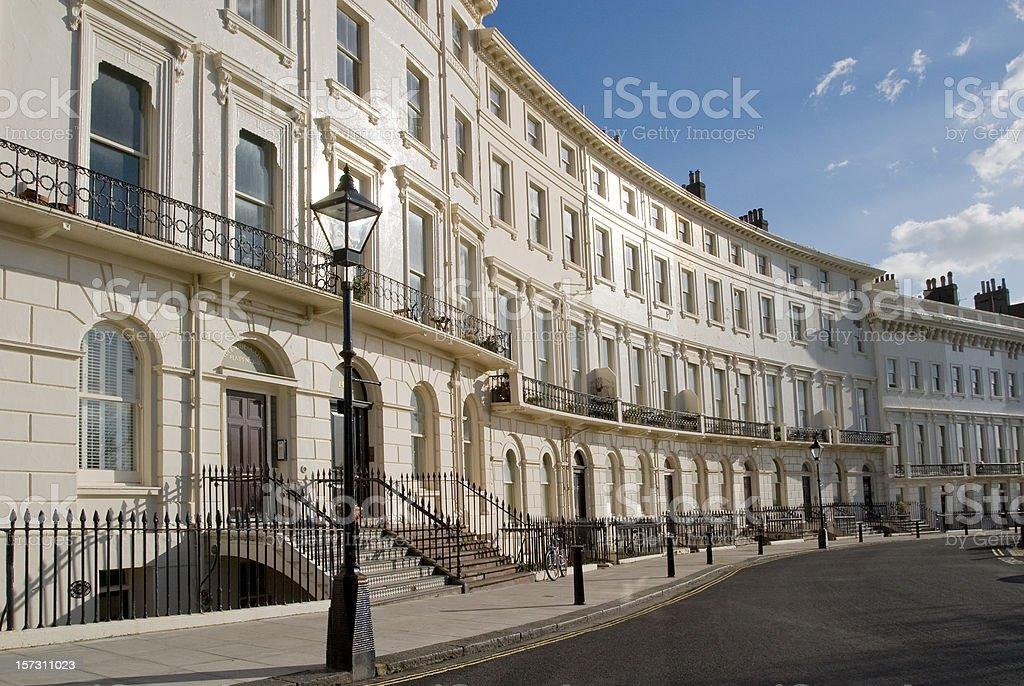 Brighton regency crescent. stock photo