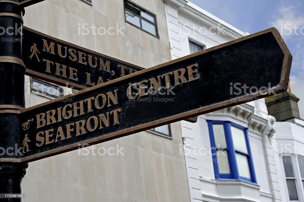 Brighton Seafront Directions royalty-free stock photo