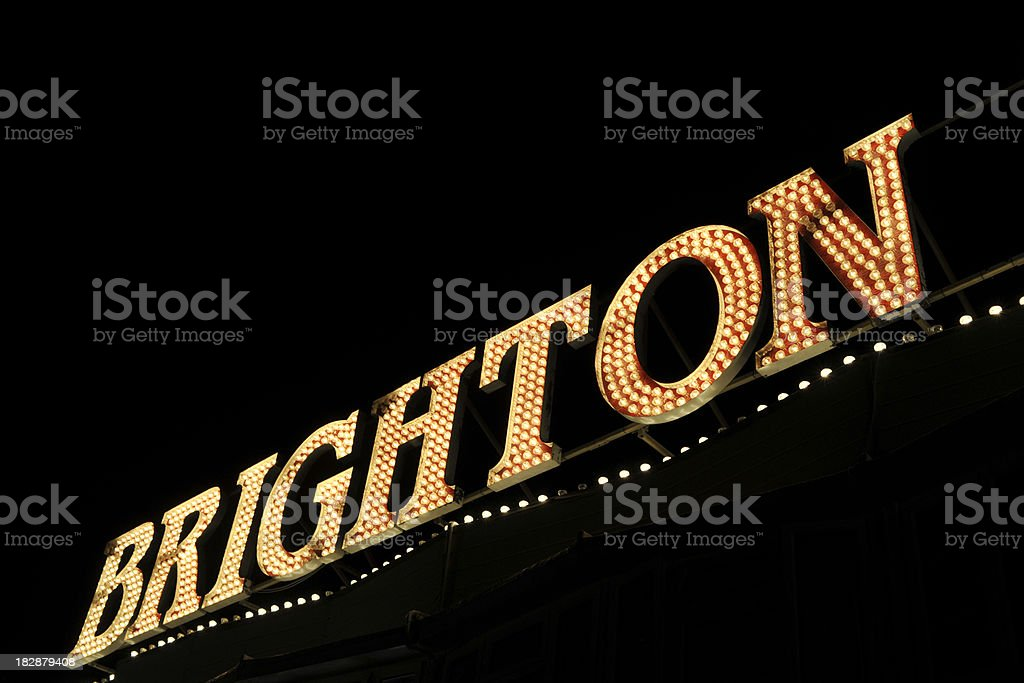 Brighton. Spelt out in lights. royalty-free stock photo