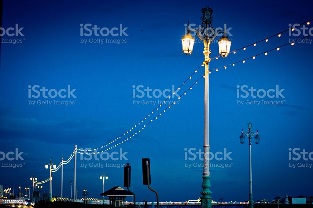 Brighton street lights stock photo