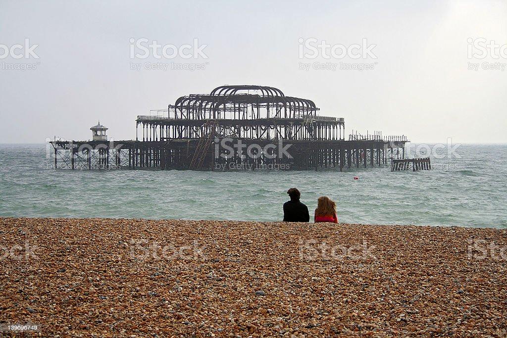 Brighton West Pier royalty-free stock photo