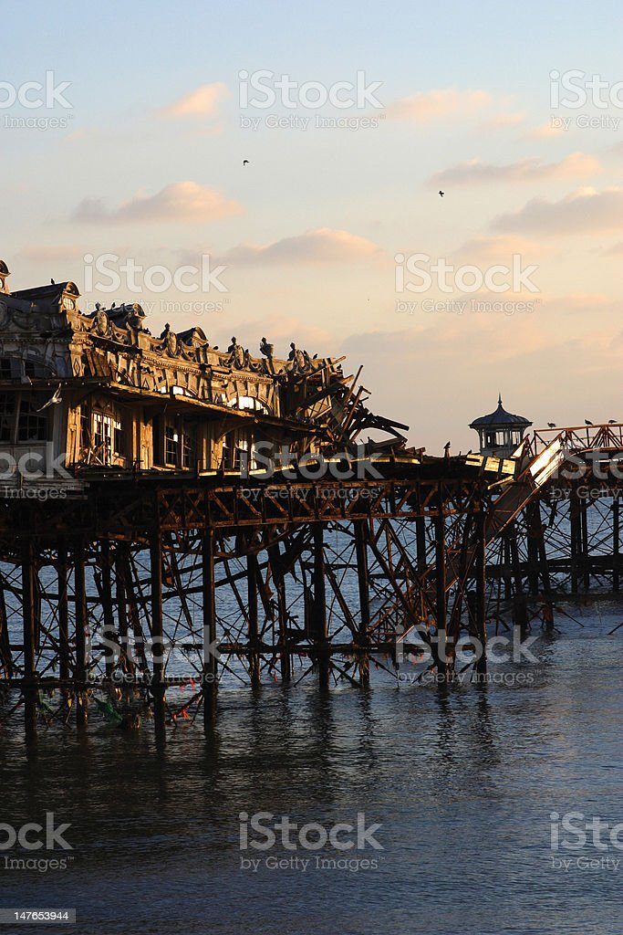 Brighton West Pier stock photo