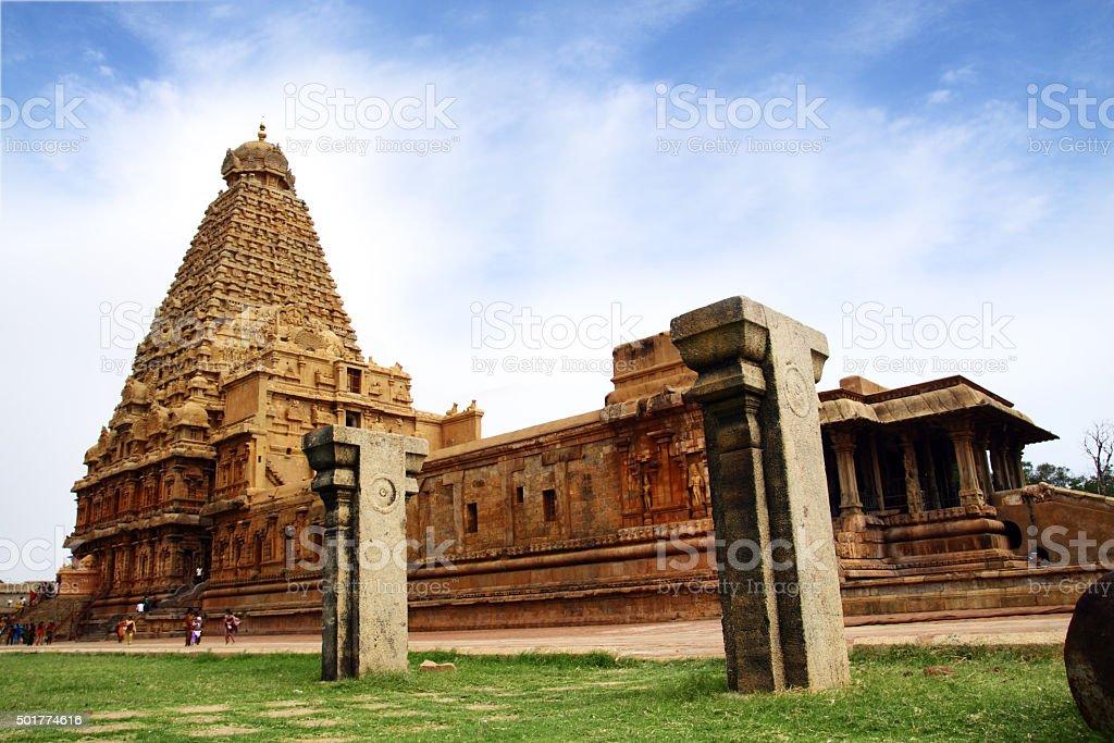 Brihadeeswarar Hindu Temple in Thanjavur stock photo