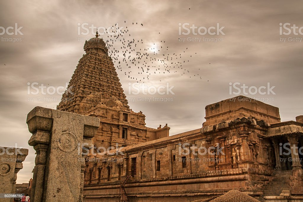 Brihadeeswarar Temple in Thanjavur stock photo