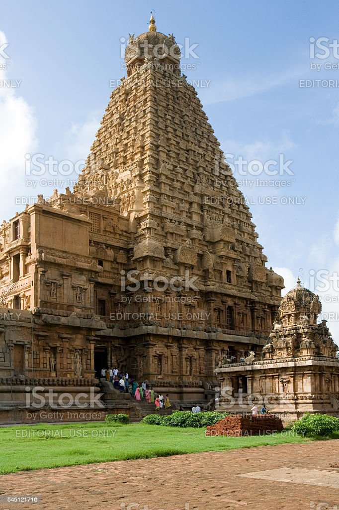Brihadishvera Hindu Temple - Thanjavur - India stock photo