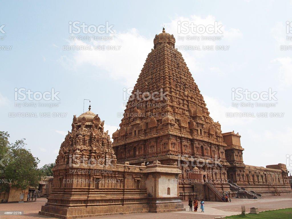 Brihadishwara Temple in Tanjore, India stock photo