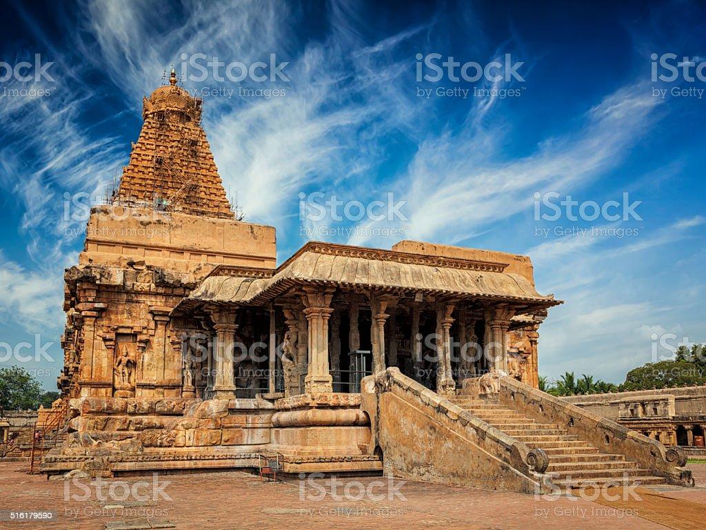 Brihadishwara Temple, Tanjore stock photo