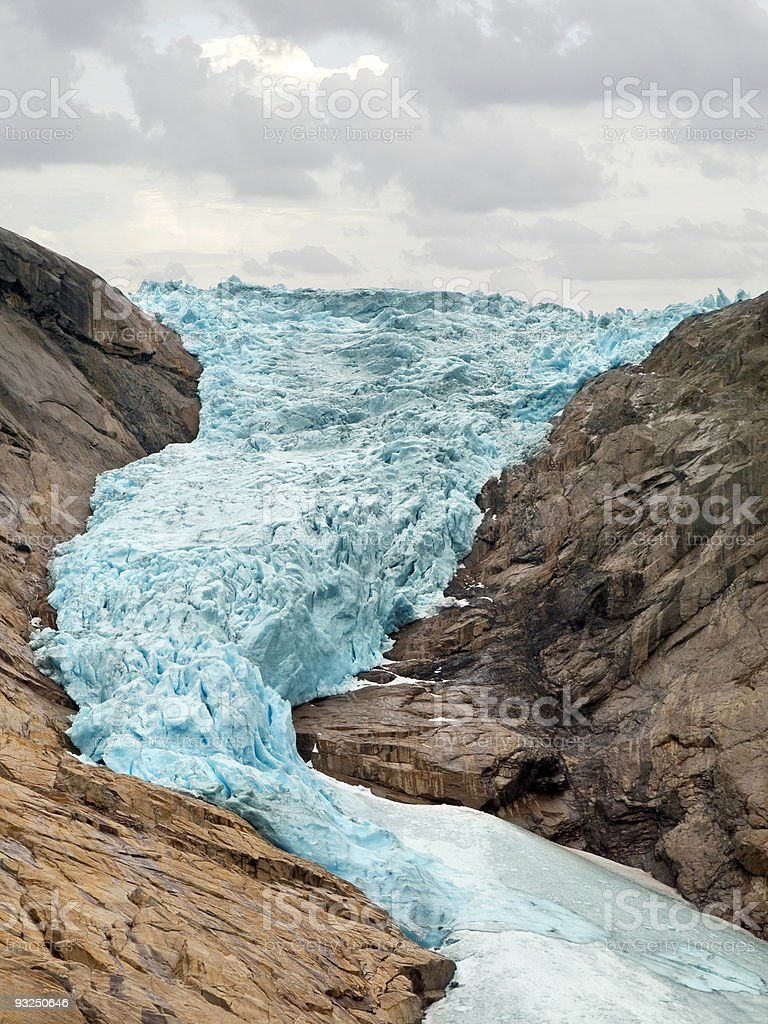 Briksdal Glacier royalty-free stock photo