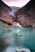 Briksdal glacier reflections