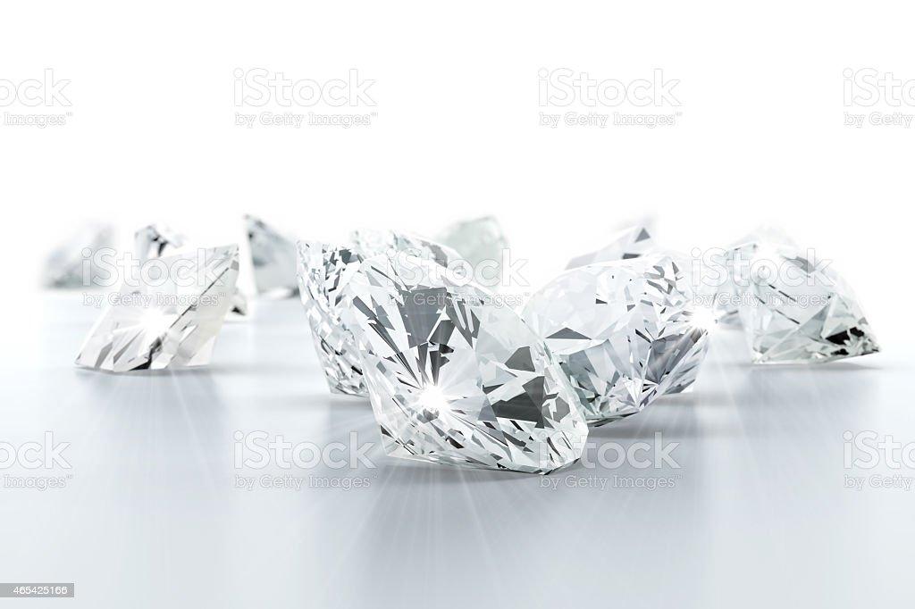 brilliant diamond jewel (high resolution 3D image) stock photo