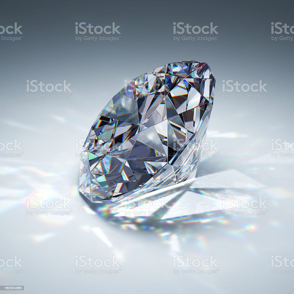 Brilliant diamond royalty-free stock photo