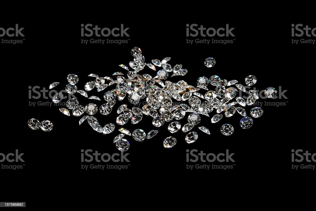 brilliant gems, isolated on black stock photo