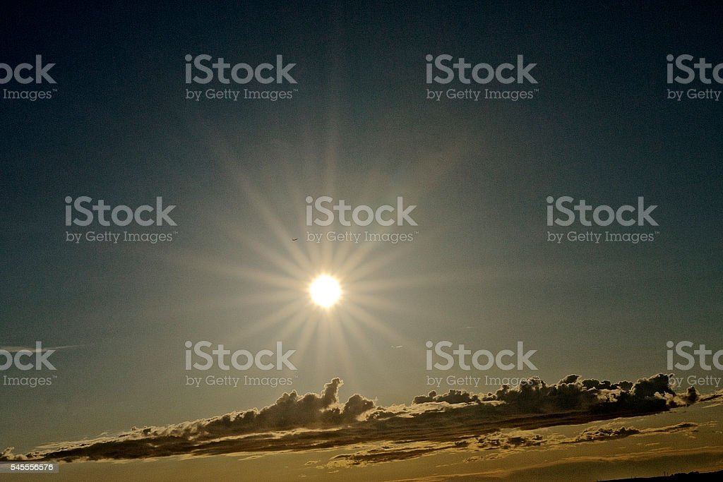 Brilliant glow from sun like star stock photo