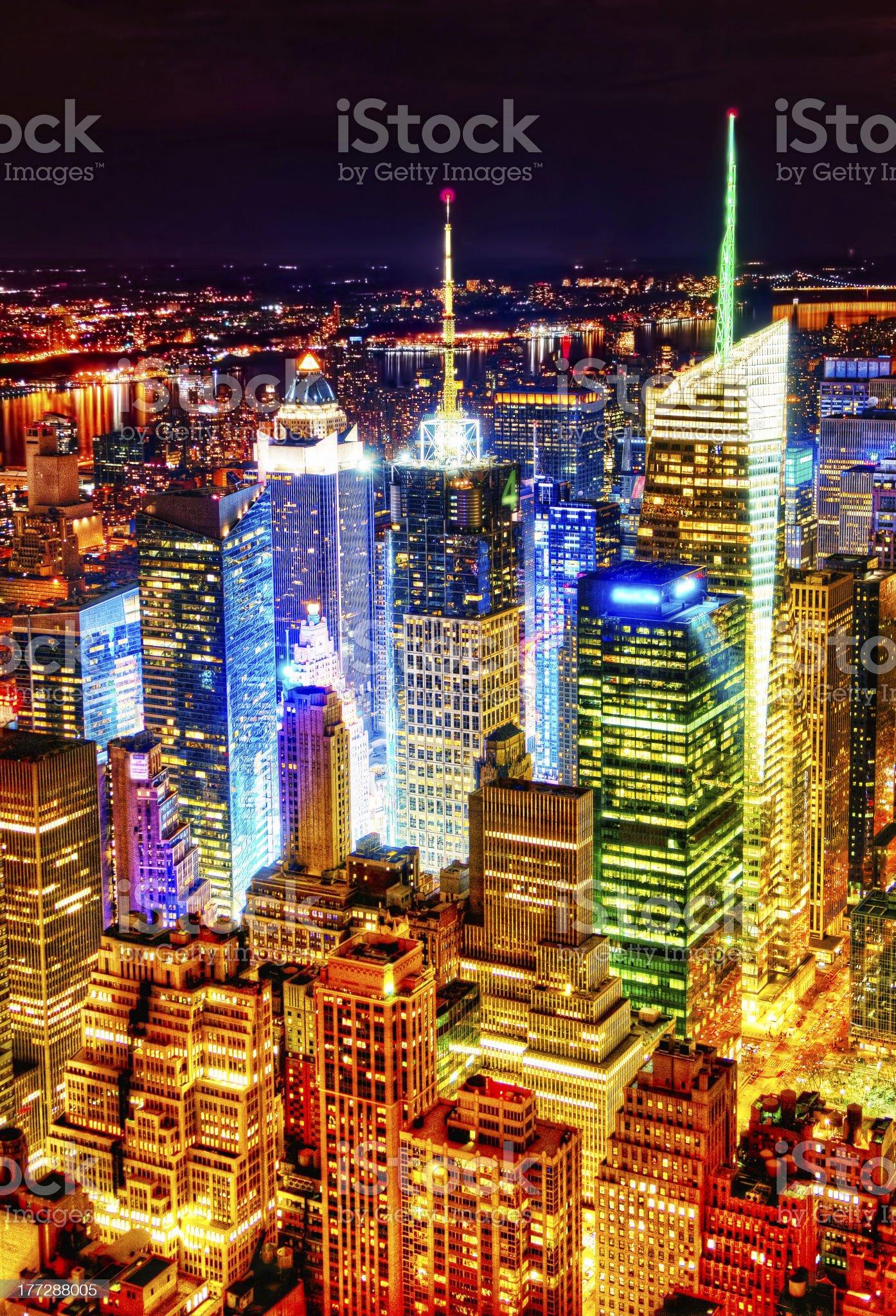 Brilliant Manhattan at Night royalty-free stock photo