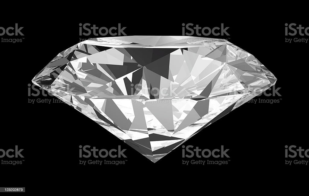 Brilliant stone with path royalty-free stock photo