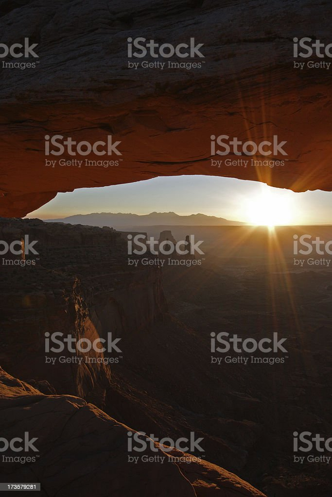 Brilliant Sunrise at Mesa Arch royalty-free stock photo